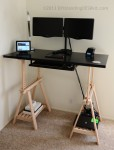 Our DIY Standing Desk Kit in Black. With Dual Monitor Stand and Keyboard Tray!