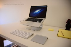mStand Mac Book Pro / Air Stand with Apple Keyboard and Apple Trackpad