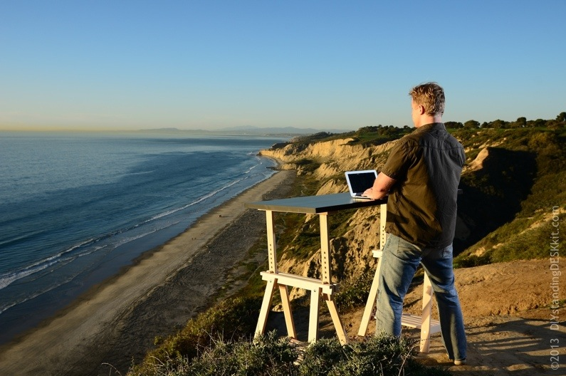 Cliff Prove Standing Desk – Torrey Pines State Park, San Diego, CA