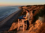 Doug into the Sun @ our Standing Desk – Torrey Pines State Park, San Diego, CA