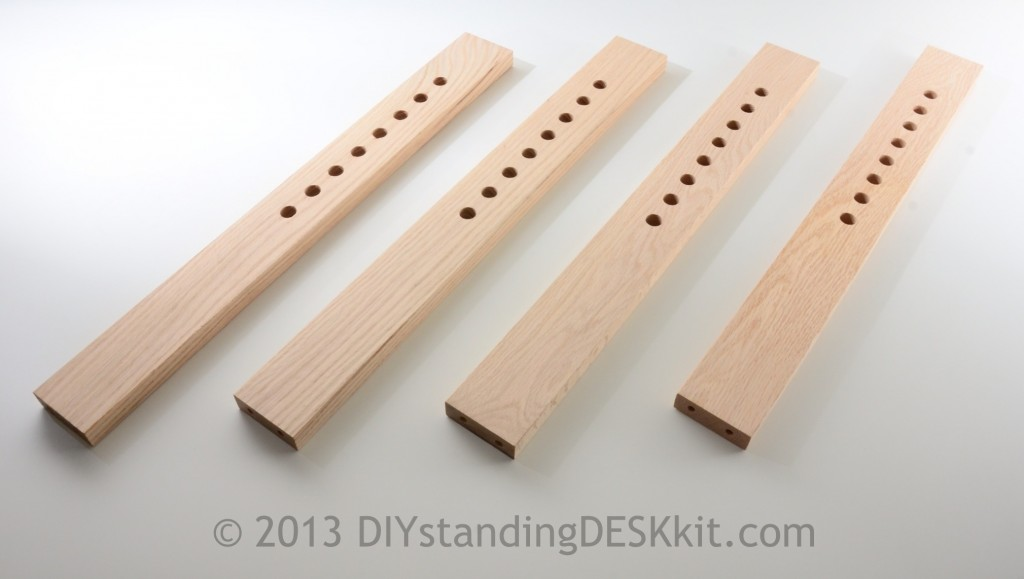 Our DIY Standing Desk Kit comes with these four adjustable legs - 100% compatible to IKEA screws and tools!
