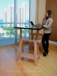 Our Standing Desk at an office in Miami