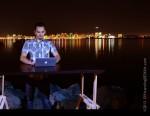 Tough Sergey @ our Standing Desk - San Diego Harbor, CA