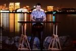 Sergey working hard @ our Standing Desk - San Diego Harbor, CA