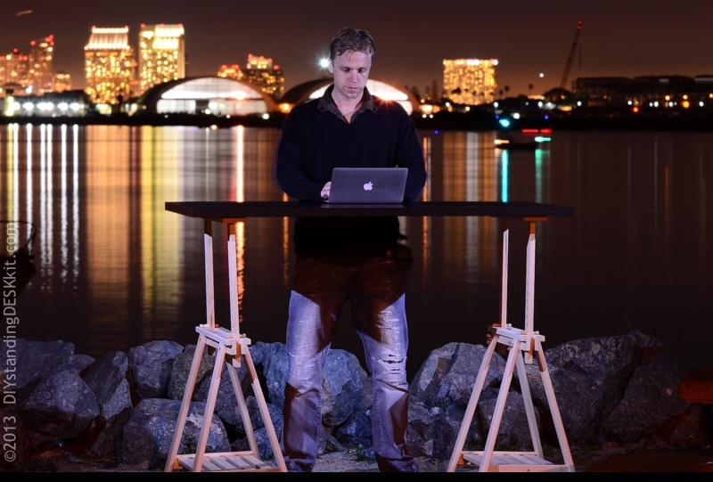 Vision of Light @ our Standing Desk - San Diego Harbor, CA